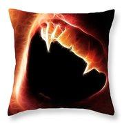 Vampire Fangs Throw Pillow