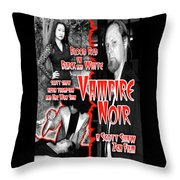 Vampire Noir Throw Pillow