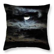 Vampire Skies Throw Pillow