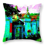 Vampire Tombs New Orleans Throw Pillow