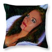Vampiress Throw Pillow