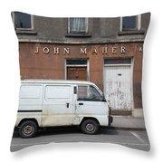 Van And Shop Throw Pillow
