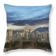 Van City Sunrise Throw Pillow