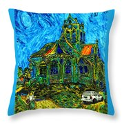 Van Goes To Auvers Throw Pillow