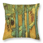Van Gogh: Alyscamps, 1888 Throw Pillow