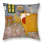 Van Gogh: Bedroom, 1888 Throw Pillow