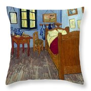 Van Gogh: Bedroom, 1889 Throw Pillow