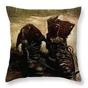 Van Gogh Boots 1886 Throw Pillow