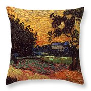 Van Gogh: Castle, 1890 Throw Pillow