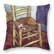Van Gogh: Chair, 1888-89 Throw Pillow by Granger