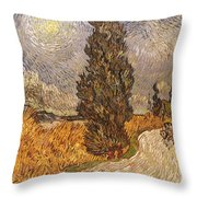 Van Gogh: Cypresses, 1889 Throw Pillow
