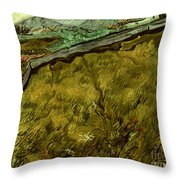 Van Gogh: Field, 1890 Throw Pillow