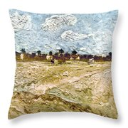 Van Gogh: Fields, 1888 Throw Pillow