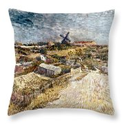 Van Gogh: Gardens, 1887 Throw Pillow