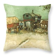 Van Gogh: Gypsies, 1888 Throw Pillow