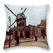 Van Gogh: La Moulin, 1886 Throw Pillow
