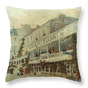 Van Gogh: La Sirene, 1887 Throw Pillow