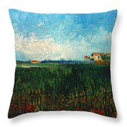 Van Gogh: Landscape, 1888 Throw Pillow