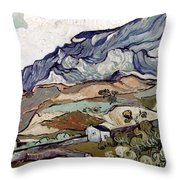 Van Gogh: Landscape, 1890 Throw Pillow