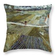 Van Gogh: Landscape, C1888 Throw Pillow