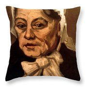 Van Gogh: Midwife, 1885 Throw Pillow