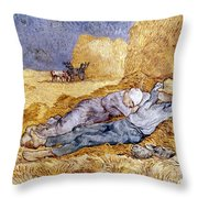 Van Gogh: Noon Nap, 1889-90 Throw Pillow