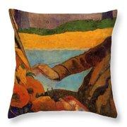 Van Gogh Painting Sunflowers 1888 Throw Pillow