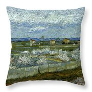 Van Gogh: Peach Tree, 1889 Throw Pillow