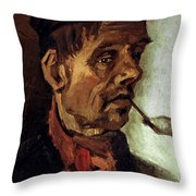 Van Gogh: Peasant, 1884 Throw Pillow