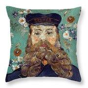 Van Gogh: Postman, 1889 Throw Pillow