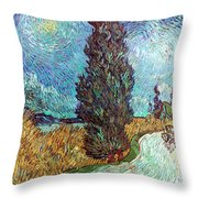 Van Gogh: Road, 1890 Throw Pillow
