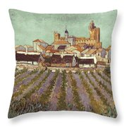 Van Gogh: Saintes-maries Throw Pillow