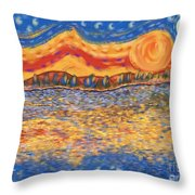 Van Gogh Skies Throw Pillow by Sydne Archambault