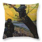 Van Gogh: Sower, 1888 Throw Pillow
