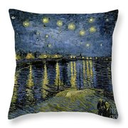Van Gogh, Starry Night Throw Pillow