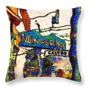 Van Gogh Takes A Wrong Turn And Discovers The Castro In San Francisco . 7d7547 Throw Pillow