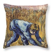 Van Gogh: The Reaper, 1889 Throw Pillow