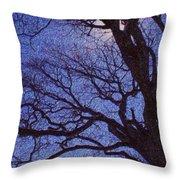Van Gogh Tree Throw Pillow