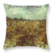 Van Gogh: Vineyard, 1888 Throw Pillow