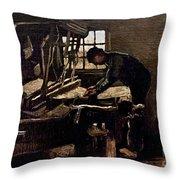 Van Gogh: Weaver, 1884 Throw Pillow