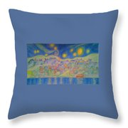 Van Goghville Throw Pillow