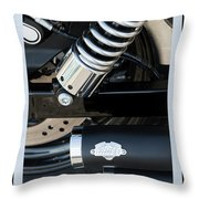Vance And Hines Throw Pillow