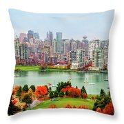 Vancouver After The Rain Throw Pillow