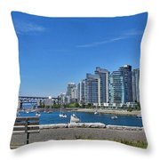 Vancouver Bench Throw Pillow