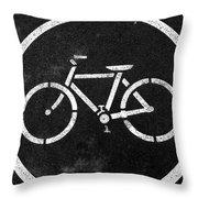 Vancouver Bike Lane- Art By Linda Woods Throw Pillow