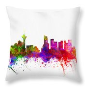 Vancouver British Columbia Skyline Color02 Throw Pillow