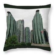 Vancouver City Canada Throw Pillow