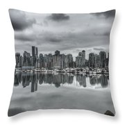 Vancouver Cityscape Throw Pillow