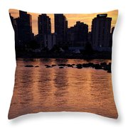 Vancouver From Stanley Park I Throw Pillow