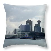 Vancouver Harbour Throw Pillow